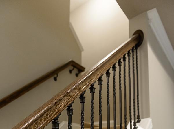 Stair rail view